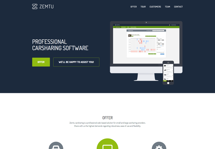 Zemtu - Professional carsharing software